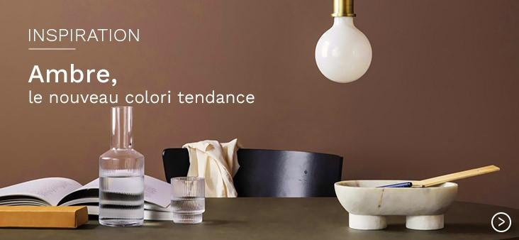 Ambre, le nouveau coloris tendance pour votre intérieur