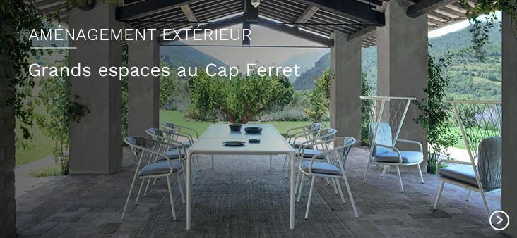 Aménagement extérieur de grands espaces Nature contemporaine au Cap Ferret