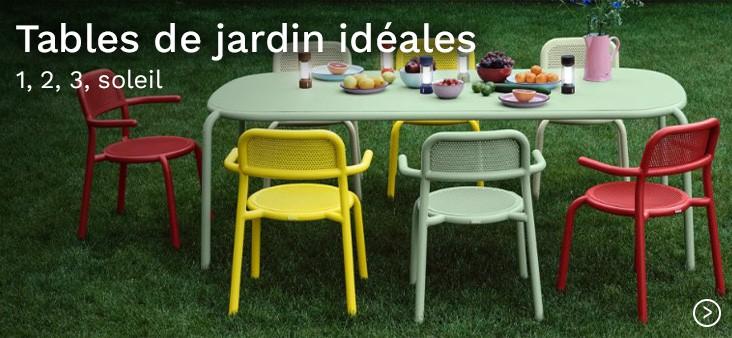 Tables de jardin idéales : 1, 2, 3, soleil
